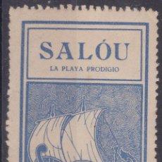 Sellos: AA8- VIÑETA SALOU. LA PLAYA PRODIGIO .35 X 55 MM ** SIN FIJASELLOS. Lote 195279695