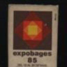 Sellos: VIÑETA VINYETA DE L, EXPOBAGES DE MANRESA 1985. Lote 195283183