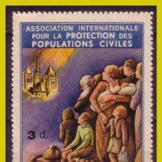 Selos: GUERRA CIVIL VIÑETAS SUIZA PROTECCIÓN POBLACIONES CIVILES, DOMENECH Nº 2136 * *. Lote 195329138