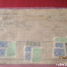 Sellos: 48 VIÑETAS DE PLATO UNICO. DE 25 Y 50 CTS. (JUNTA PROVINCIAL DE BENIFICIENCIA) GOBIERNO CIVIL. Lote 195392103