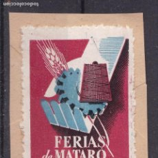 Sellos: LL13- VIÑETA FERIAS DE MATARÓ 1952 SOBRE PAPEL. Lote 195398151
