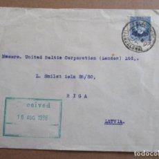 Sellos: CIRCULADA 1936 DE BARCELONA A RIGA LITUANIA . Lote 195487163