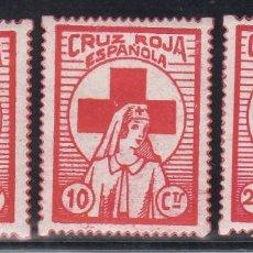 Sellos: GUERRA CIVIL, CRUZ ROJA ESPAÑOLA , GILLAMÓN Nº 1660, 1661, 1662, . Lote 195499311