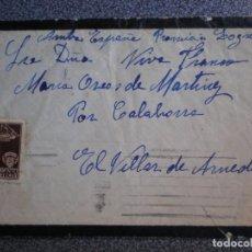 Sellos: SOBRE CIRCULADO SOLO CON SELLO AYUNTAMIENTO BARCELONA - CENSURA MILITAR A EL VILLAR DE ARNEDO. Lote 195531571