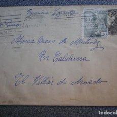 Sellos: SOBRE CIRCULADO CON SELLO AYUNTAMIENTO BARCELONA A EL VILLAR DE ARNEDO LA RIOJA. Lote 195531720