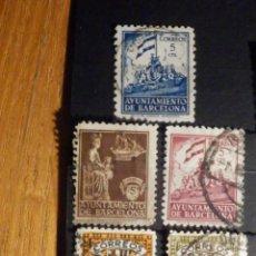 Sellos: EDIFIL BARCELONA Nº 11,12,23,24 Y 25 - AÑO 1932-1935 - LOTE DE 5. Lote 195794291