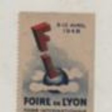 Sellos: VIÑETA DE FRANCIA - LYON FOIRE FERIA INTERNACIONALE D'ECHANTILLONS 1948. Lote 195875408