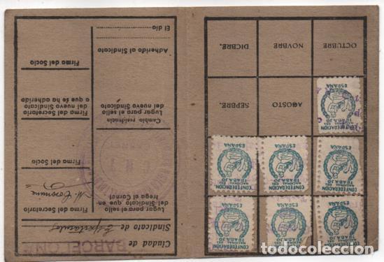 Sellos: CARNET. C.N.T. 24 CUOTAS + 7 CUOTAS- S.U. DE ESPECTACULOS PUBLICOS, VER FOTOS - Foto 2 - 195901786