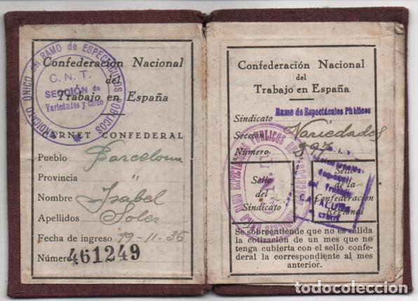 Sellos: CARNET. C.N.T. 24 CUOTAS + 7 CUOTAS- S.U. DE ESPECTACULOS PUBLICOS, VER FOTOS - Foto 3 - 195901786