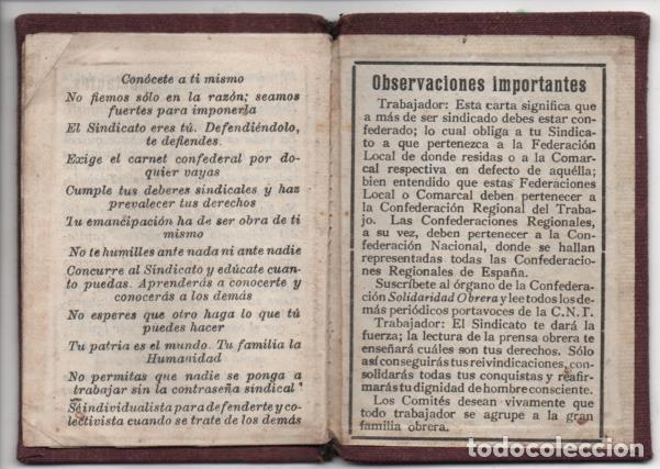 Sellos: CARNET. C.N.T. 24 CUOTAS + 7 CUOTAS- S.U. DE ESPECTACULOS PUBLICOS, VER FOTOS - Foto 4 - 195901786