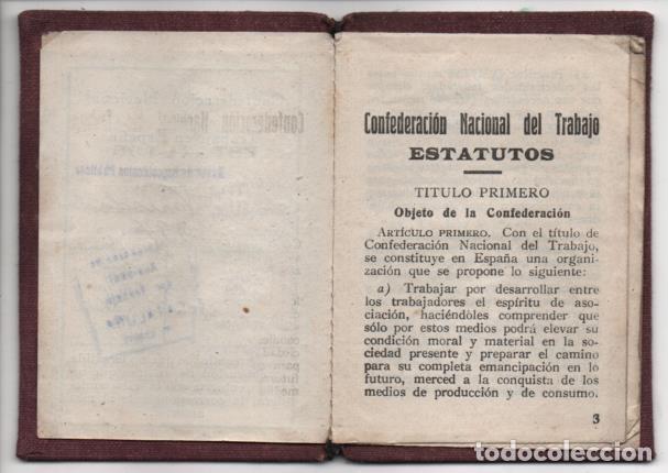 Sellos: CARNET. C.N.T. 24 CUOTAS + 7 CUOTAS- S.U. DE ESPECTACULOS PUBLICOS, VER FOTOS - Foto 6 - 195901786