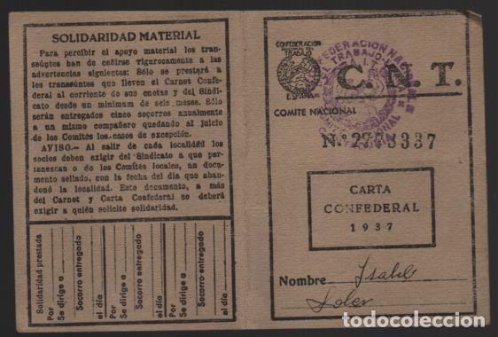 Sellos: CARNET. C.N.T. 24 CUOTAS + 7 CUOTAS- S.U. DE ESPECTACULOS PUBLICOS, VER FOTOS - Foto 7 - 195901786