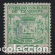 Sellos: CABILDO INSULAR DE TENERIFE, 5 CTS. --ARBITRIO SOBRE TABACOS-- VER FOTO. Lote 195903392