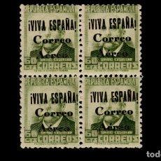 Sellos: 1937-GUERRA CIVIL -VARIEDAD- BURGOS - EDIFIL 71 - MNH** - NUEVOS - BLOQUE 4 - VALOR CATALOGO 75€.. Lote 196021176