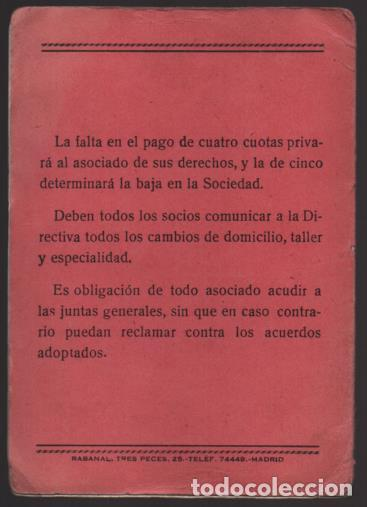 Sellos: MADRID, CARNET, SOC. OBRERA FOTOGRAFOS Y SIMILARES- CON 8 CUOTAS AÑO 1937, VER FOTOS - Foto 6 - 196114540