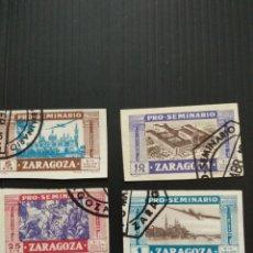 Francobolli: SELLOS DE ESPAÑA PRO SEMINARIO DE ZARAGOZA. Lote 196346810