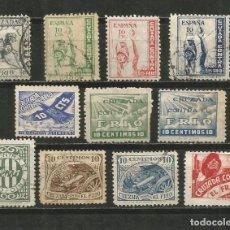 Selos: ESPAÑA GUERRA CIVIL CONJUNTO DE SELLOS CRUZADA CONTRA EL FRIO USADOS. Lote 196540693