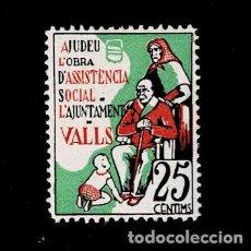 Sellos: 0177 GUERRA CIVIL VALLS 25 C. FESOFI Nº 3 SIN FIJASELLOS. Lote 221438608