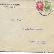 Sellos: SOBRE CARTA CON REINTEGRO AÑO - 1938 - DESTINO CABRA DEL CAMPO - BANCO COMERCIAL DE BARCELONA. Lote 196903876