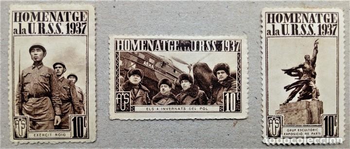 Sellos: VIÑETA GUERRA CICIL HOMENAJE URSS 1937 - Foto 2 - 197347905