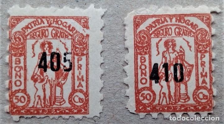 ESPAÑA FISCAL SEGURO GRATIS PATRIA Y HOGAR BONO PRIMA 50 CTS (Sellos - España - Guerra Civil - Beneficencia)