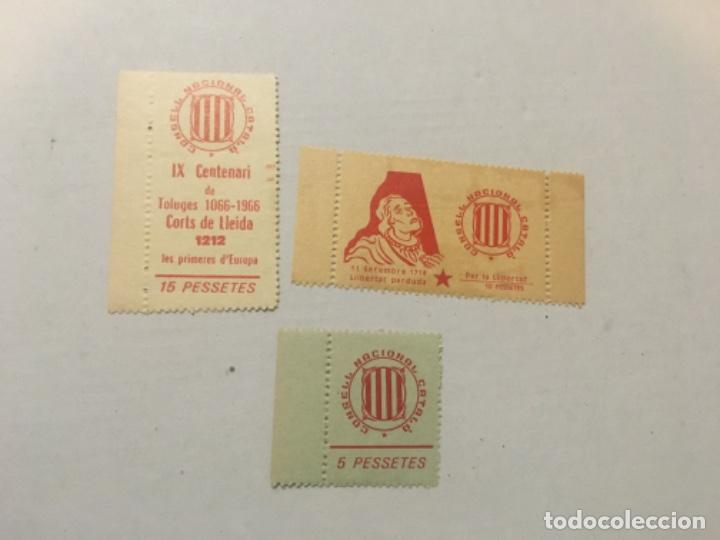 3 -VIÑETAS CONSELL NACIONAL CATALÁ - 5-10-15 PESSETES. (Sellos - España - Guerra Civil - Viñetas - Nuevos)