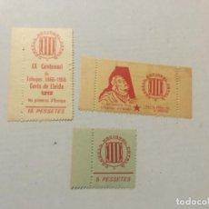Sellos: 3 -VIÑETAS CONSELL NACIONAL CATALÁ - 5-10-15 PESSETES. . Lote 197656013