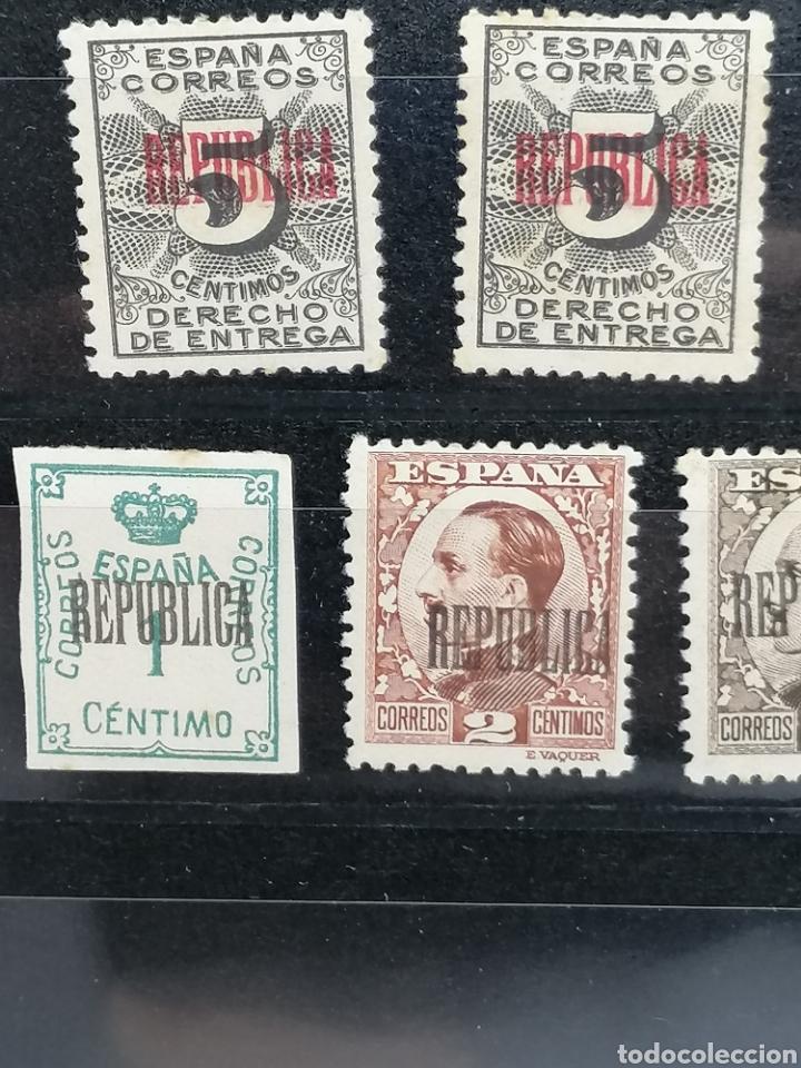 Sellos: España Lote REPUBLICA sobrecarga especial hecha en Barcelona Edifil 291,593,594,592 nuevos * - Foto 2 - 197667541