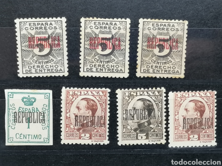 Sellos: España Lote REPUBLICA sobrecarga especial hecha en Barcelona Edifil 291,593,594,592 nuevos * - Foto 4 - 197667541