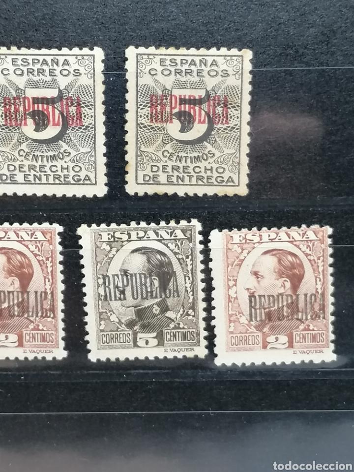 Sellos: España Lote REPUBLICA sobrecarga especial hecha en Barcelona Edifil 291,593,594,592 nuevos * - Foto 5 - 197667541