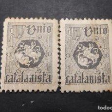 Sellos: 2VIÑETAS REPUBLICA UNIO CATALANISTA A. Lote 197818636