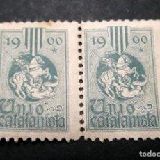 Sellos: 2 VIÑETAS REPUBLICA UNIO CATALANISTA D. Lote 197819168