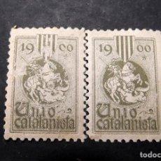 Sellos: 2 VIÑETAS REPUBLICA UNIO CATALANISTA E. Lote 197819313