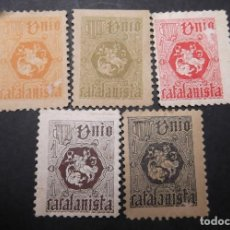 Sellos: 5 VIÑETAS REPUBLICA UNIO CATALANISTA F. Lote 197820061