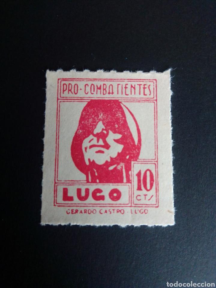 GUERRA CIVIL ESPAÑOLA. VIÑETA PRO COMBATIENTES. LUGO. (Sellos - España - Guerra Civil - Viñetas - Nuevos)
