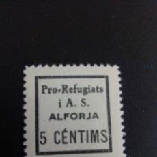 Sellos: GUERRA CIVIL ESPAÑOLA. VIÑETA. PRO REFUGIATS I ASSISTENCIA SOCIAL. ALFORJA. TARRAGONA.. Lote 197906922