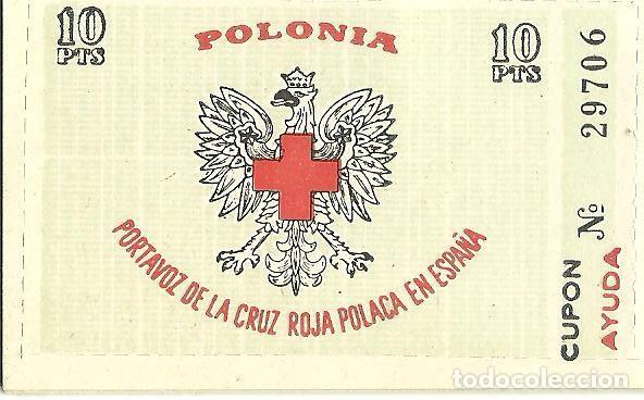 L29-28 VIÑETA POLONIA - PORTAVOZ DE LA CRUZ ROJA POLACA EN ESPAÑA - 10 PTS. (Sellos - España - Guerra Civil - Viñetas - Nuevos)
