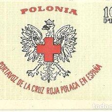 Sellos: L29-28 VIÑETA POLONIA - PORTAVOZ DE LA CRUZ ROJA POLACA EN ESPAÑA - 10 PTS.. Lote 198040002