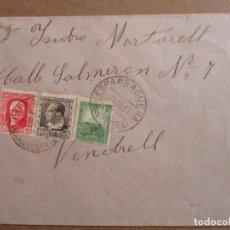 Sellos: CIRCULADA 1937 DE ESPARRAGUERA BARCELONA A VENDRELL TARRAGONA CON SELLO LOCAL VER FOTO. Lote 198175385