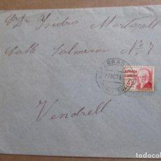 Sellos: CIRCULADA 1937 DE ESPARRAGUERA BARCELONA A VENDRELL TARRAGONA CON SELLO LOCAL VER FOTO. Lote 198175475