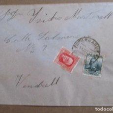 Sellos: CIRCULADA 1937 DE ESPARRAGUERA BARCELONA A VENDRELL TARRAGONA CON SELLO LOCAL VER FOTO. Lote 198175577