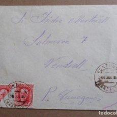 Sellos: CIRCULADA 1937 DE FONTRUBI BARCELONA A VENDRELL TARRAGONA CON SELLO BISECTADO VER FOTO. Lote 198175780