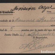 Sellos: SANTA OLLALA, DIVISION AZUL- TACHADO PLATO UNICO,- 100% ORIGINAL, VER FOTO. Lote 198480430
