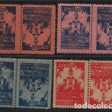 Sellos: FUENGIROLA- MALAGA- 10 CTS, 4 PAREJAS CAPICUAS-- VER FOTO. Lote 198570948