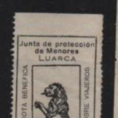Sellos: LUARCA, 25 CTS. JUNTA PROTECCION DE MENORES, VER FOTO. Lote 198573863
