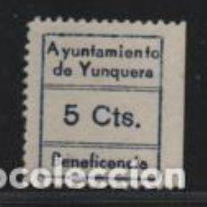 Sellos: YUNQUERA, MALAGA- 5 CTS, -BENEFICENCIA - VER FOTO. Lote 198573958