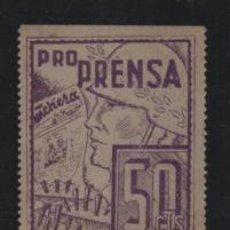 Sellos: VIÑETA, 50 CTS,-PRO PRENSA- VER FOTO. Lote 198574001