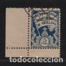 Sellos: MOLLINA.MALAGA,- 5 CTS,- AZUL-BENEFICENCIA-VER FOTO. Lote 198574441