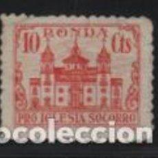 Sellos: RONDA.MALAGA,- 10 CTS,- -PRO IGLESIA SOCORRO-VER FOTO. Lote 198574602
