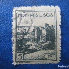 Sellos: PRO MALAGA, 5 CTS. Lote 198733021